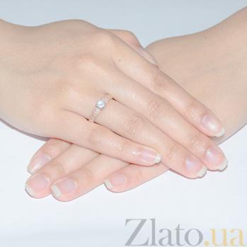 Кольцо золотое помолвочное Обещание 12275