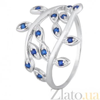 Серебряное кольцо с синими фианитами Лавр 000028163