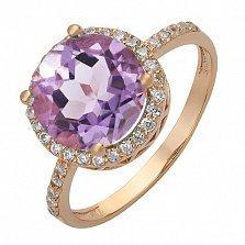 Золотое кольцо с синтезированным александритом Изабель