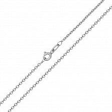 Золотая цепь Сантим классического якорного плетения в белом цвете, 1мм