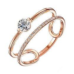 Кольцо из красного золота с фианитами 000136396