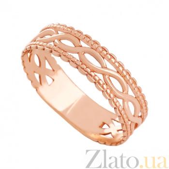 Золотое обручальное кольцо Переплетение судеб 000024299