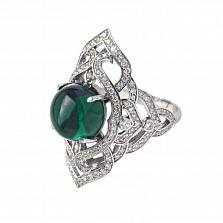 Золотое кольцо с бриллиантами и празиолитом Devi