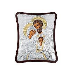 Икона Святое семейство с серебрением 000126546