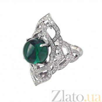 Золотое кольцо с бриллиантами и празиолитом Devi ZMX--RDPr-00107w