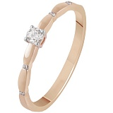 Золотое кольцо с бриллиантами Астрид