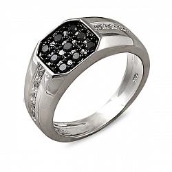 Кольцо из белого золота Бриттл с бриллиантами