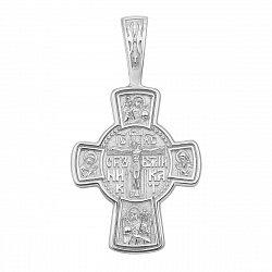 Православный серебряный крестик с молитвой 000134763