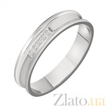 Золотое обручальное кольцо с бриллиантами Сонет KBL--К1664/бел/брил