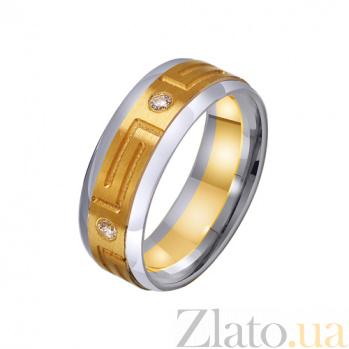 Золотое обручальное кольцо Империя с фианитами TRF--452711