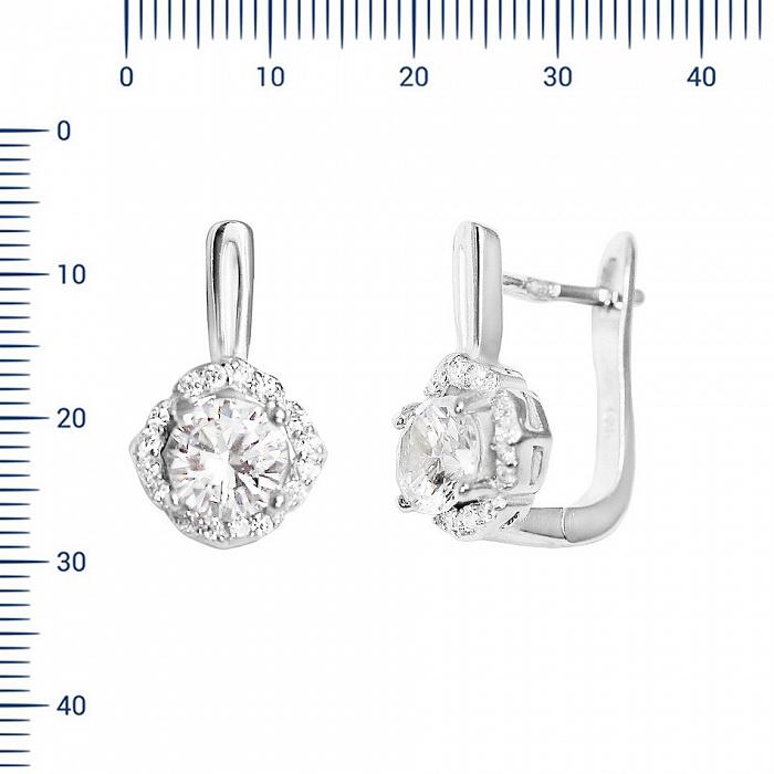 Серебряные серьги Нелли с фианитами 000082047