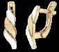 Серьги из серебра с позолотой Кэтлин SLX--С32/227
