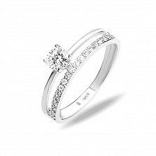 Серебряное кольцо Нила с прозрачными фианитами