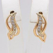 Золотые сережки Миррима с цирконием