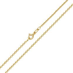 Золотая цепь Сантим классического якорного плетения в желтом цвете, 1мм