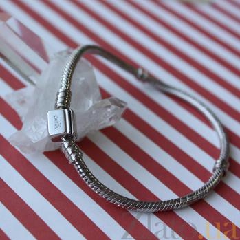 Серебряный браслет для шармов Актуаль с двумя разделителями 000063782
