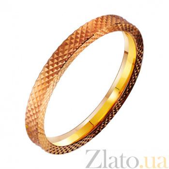 Золотое обручальное кольцо Тандем с насечкой (мужской вариант) TRF--4111721