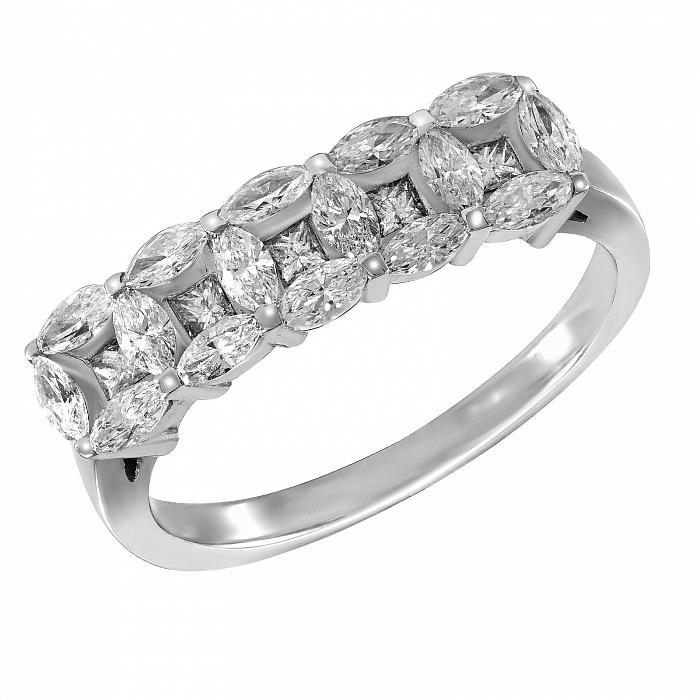 Кольцо из белого золота Фаина с бриллиантами 000096919