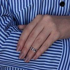 Серебряное фаланговое кольцо Шантари с фианитами