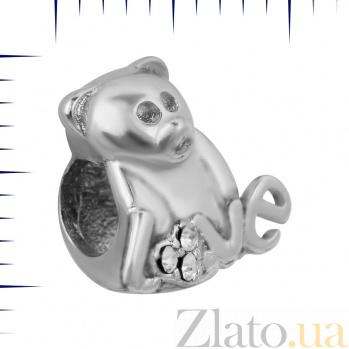 Шарм из серебра Медвежонок Love 000081743