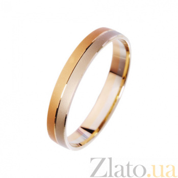 Золотое обручальное кольцо Инь-Янь TRF--411477