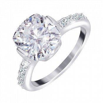 Серебряное кольцо с фианитами 000025524