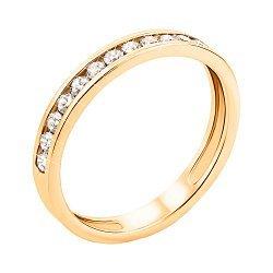 Кольцо из желтого золота с фианитами 000134649