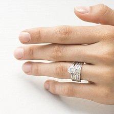 Кольцо из белого золота Рудольфа с фианитами