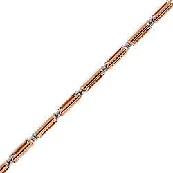 Золотая цепь Baraka Вэйланд в комбинированном цвете с бриллиантом 000033498