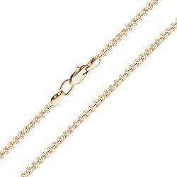 Цепочка из красного золота в плетении нонна 000123275