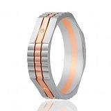 Золотое обручальное кольцо Реверанс