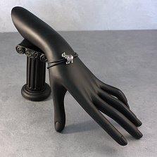 Серебряный черненый шарм Слон с синтетическими корундом и шпинелью