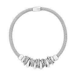 Серебряный браслет с подвесками-кольцами 000124503
