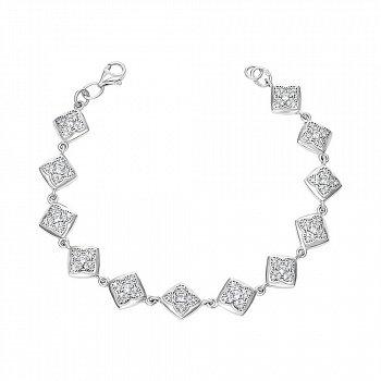 Браслет из серебра с фианитами 000149997
