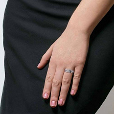 Кольцо серебро с куб. цирконом