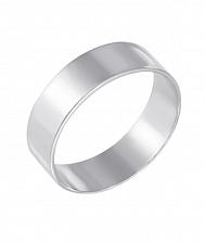 Обручальное кольцо из белого золота Классический стиль