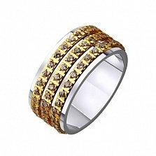 Золотое обручальное кольцо Изобилие