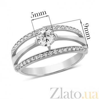 Серебряное кольцо с цирконием Милана 000030688