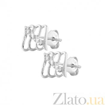 Серебряные сережки Синдис SLX--С2/380