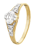 Серебряное кольцо с цирконием Алкмена