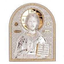 Икона Иисуса Христоса серебро с позолотой