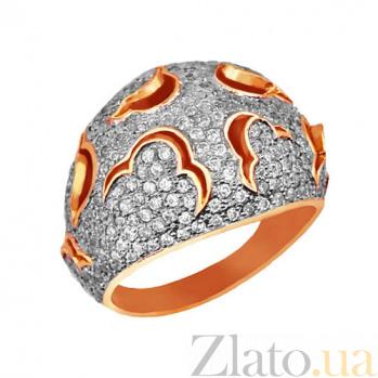 Кольцо из красного и белого золота Начало с фианитами VLT--ТТ1022-2