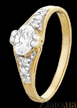 Серебряное кольцо с цирконием Алкмена 000025628