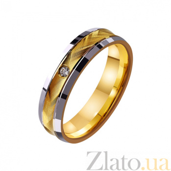 Золотое обручальное кольцо Фееричное чувство с фианитом TRF--4421683
