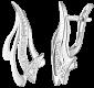 Серьги из серебра с фианитами Энергия SLX--С2Ф/057
