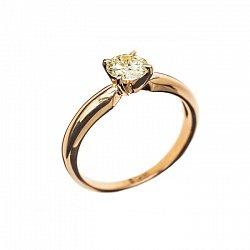 Кольцо в красном золоте Eleanor с бриллиантом