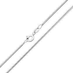 Серебряная цепочка в плетении снейк 000132664