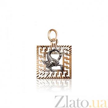 Золотая подвеска Скорпион EDM--П0111/11