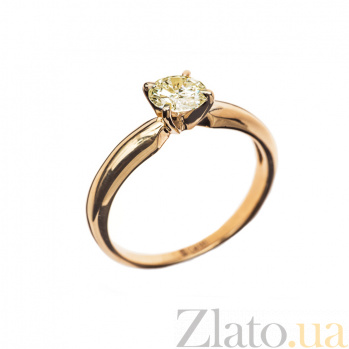 Кольцо в красном золоте Eleanor с бриллиантом 000079289