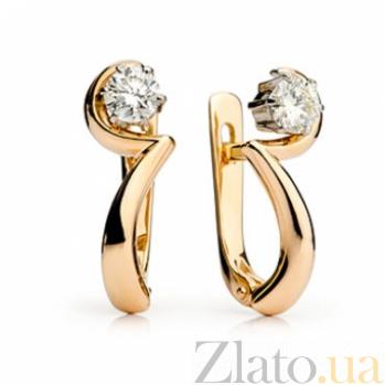 Золотые серьги с бриллиантами Элис 000030554